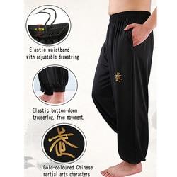 Брюки для кунг-фу с крыльями, chun tai chi, одежда для занятий боевыми искусствами, штаны для йоги, мужские свободные штаны