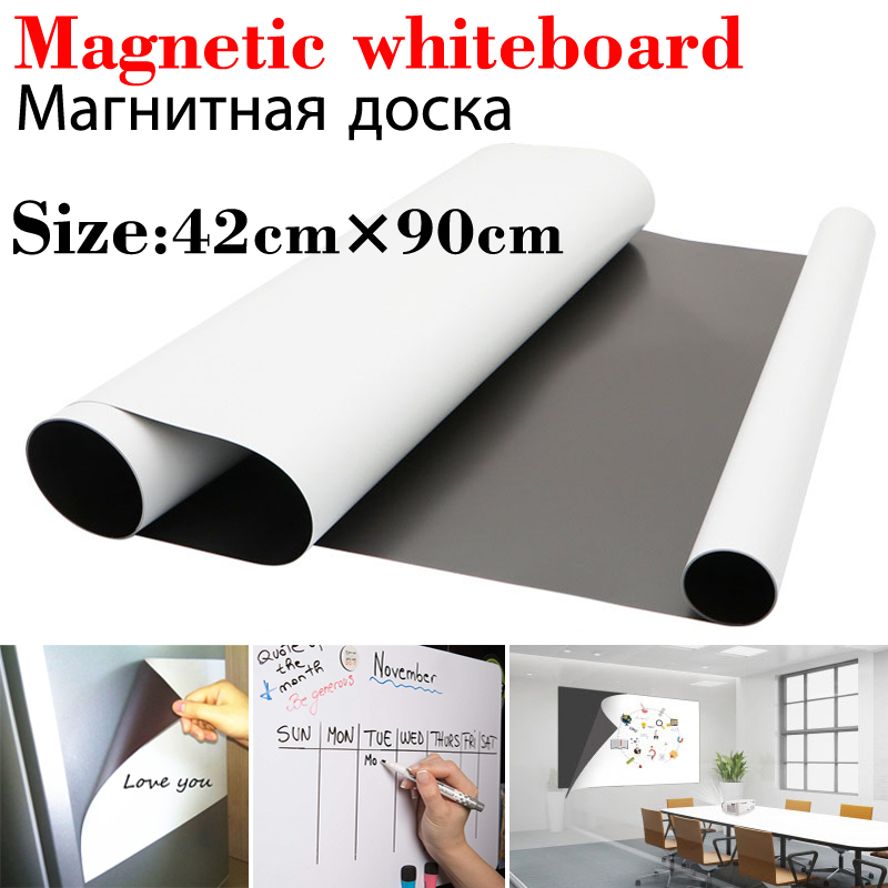 42*90cm Size Magnetic WhiteBoard Fridge Magnets Kids Painting Board School Home Office Message Board Dry-erase Board White Board