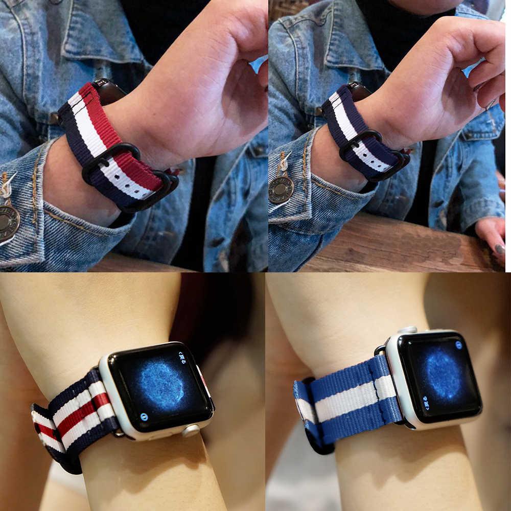 Eastar Vendita Calda di Nylon Cinturino per Apple Watch Band Serie 4/3/2/1 di Sport Braccialetto di Cuoio 42 millimetri 38 millimetri Cinghia Per iwatch Fascia 5