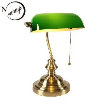 Синий/зеленый/янтарный/белый цвет прикроватный столик для спальни ретро стеклянный Настольный светильник стандартный размер 227 мм светиль...