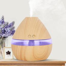 300ml domu nawilżacz powietrza Usb elektryczny Aroma dyfuzor powietrza drewna ultradźwiękowy olejek wytwarzacz mgiełki do aromaterapii Led Light