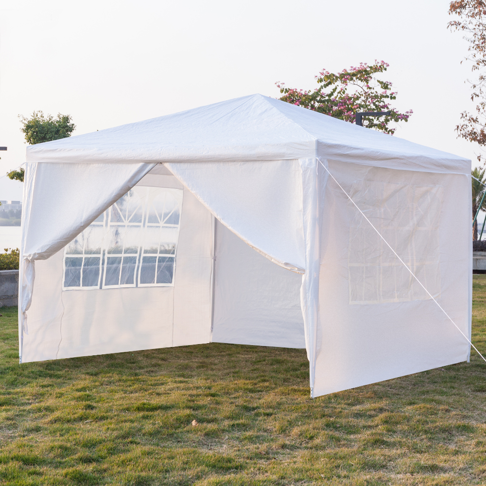 Four Sides Portable Home Wedding Garden Use Waterproof Tent With Spiral Tubes White Color Sun Shelter Gazebo Canopy Anti UV Tent