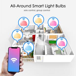 Image 3 - 15W 똑똑한 전구 Dimmable WiFi LED 램프 E27 색깔 변화 램프 RGB 마술 전구 110V 220V app는 Alexa Google assistant를 운영한다