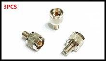 3PCS All-copper RF adapter UHFJ/FK British F master to M/UHF/SL16 male UHF/F