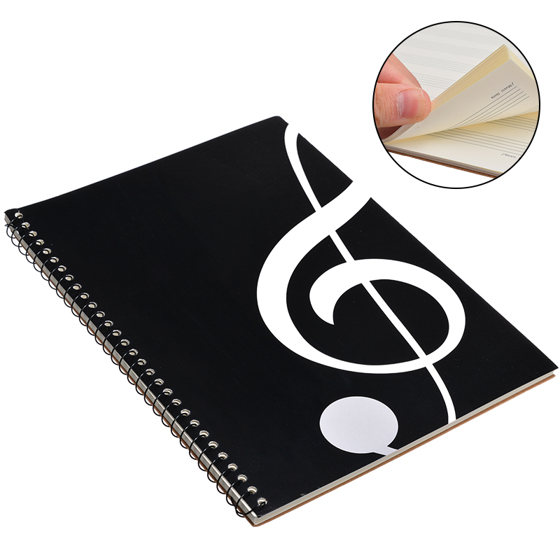 New Style 100 Pages Blank Music Score Manuscript Book Writing Stave Notebook Black A4 50 Sheets Piano Note Book Accessories