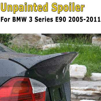 Rear Trunk ABS Boot Lip Lid Spoiler M Sports Matte Black Exterior Rear Roof Wings Trunk Lip For BMW 3 Series E90 2005-2011 image