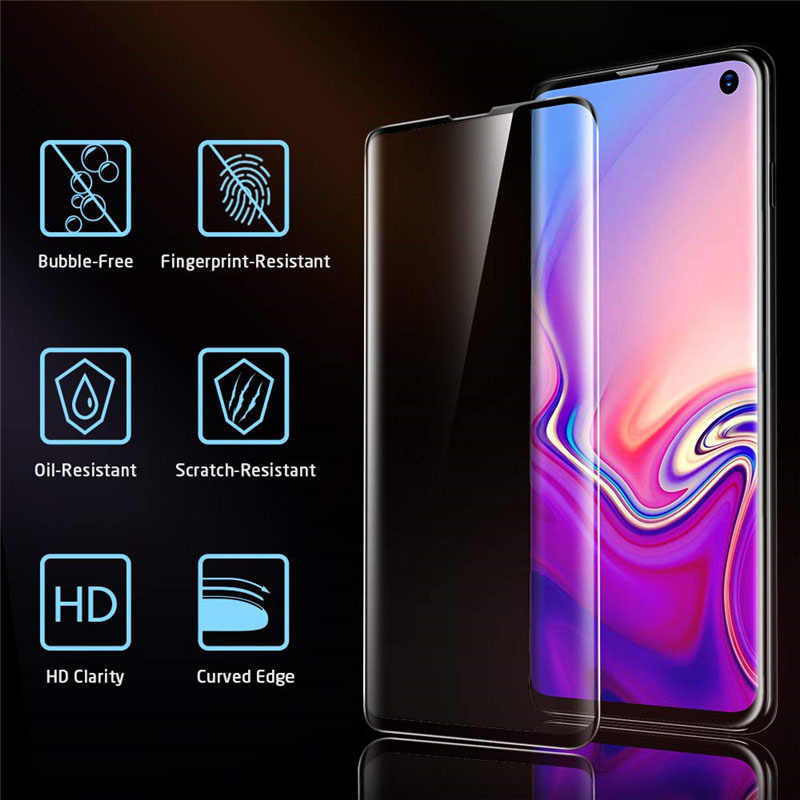 Kính cường lực Ốp Lưng điện thoại Samsung S10 Plus S10E bao da Bảo Vệ Glam Tấm Bảo Vệ Màn Hình Trên Galaxy S10 E S 10 s10plus 10 S phim
