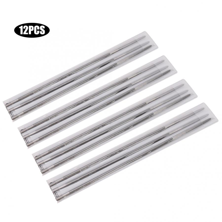 3Pcs 4mm 5//32 In Set Round Chainsaw Sharpening Files Woodworking Chain Saw File
