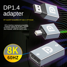 HD DP видео конвертер DP1.4 to DP Female Mini DP Adapter Support 8K% 4060Hz For Laptop Computer Monitor Home Projector