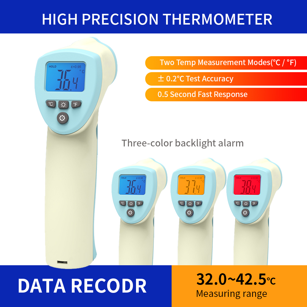 On-Contact Forehead Infrared Thermometer For Baby Kids & Adults Accurate Instant Readings Forehead Thermometer With LCD Display,