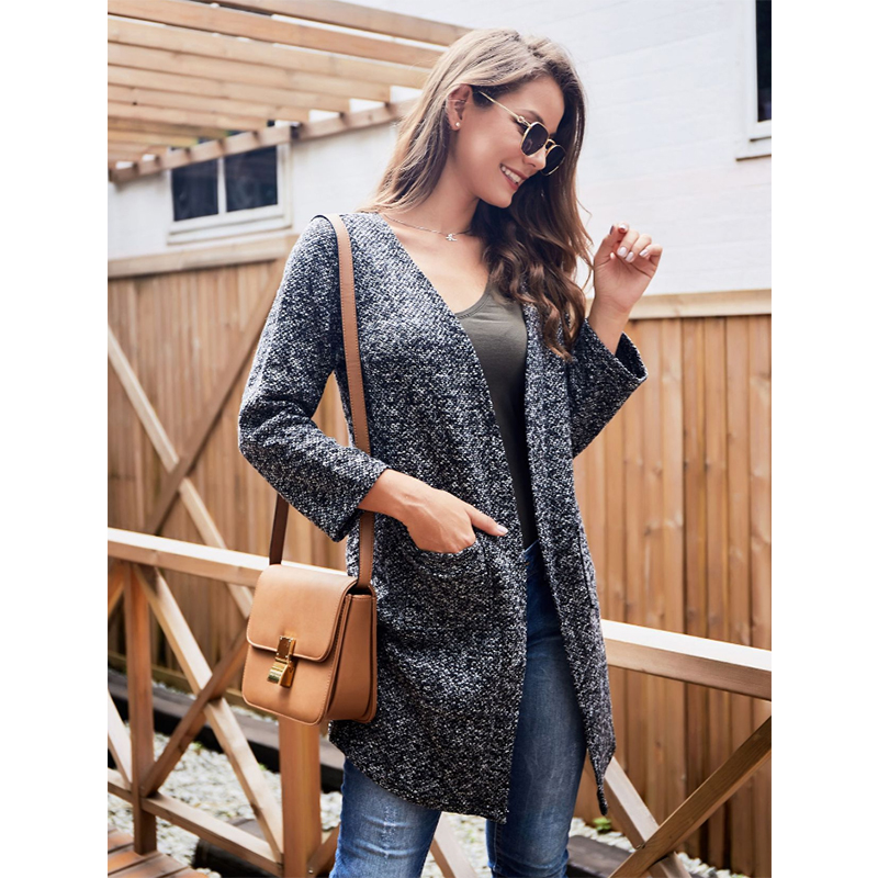 Liva girl New 2019 Spring Women Fashion Cardigan Sweaters Female Winter Poncho Jackets Plus Size Loose Coat Knitted Cardigans image