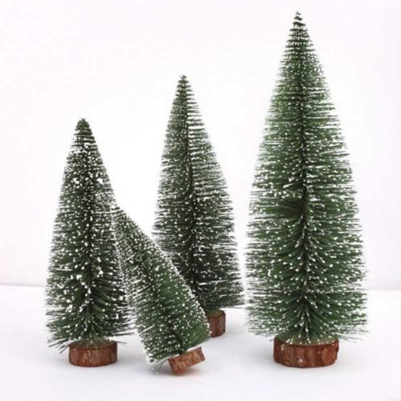 Mini Kerst Pijnboom Kleine Kerstman Sneeuw Kerst Decoraties Voor Huis Vorst Dorpshuis Nieuwe Jaar Levert