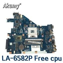 Akemy pew71 LA-6582P mbr4l02001 mb. r4l02.001 placa principal para For Acer aspire 5742 portátil placa-mãe mbrjw02001 hm55 cpu livre