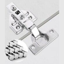 2pcs/set Stainless Steel Cabinet Door Hinge Anti-collision Doorstop Wardrobe