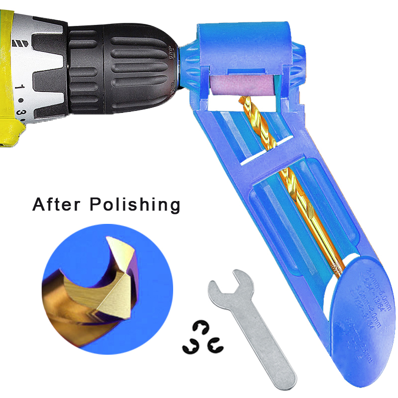 1set Corundum Grinding Wheel Drill Bit Sharpener Titanium Drill Portable Drill Bit Powered Tool Parts