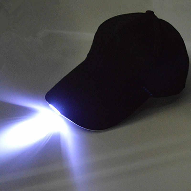 USB LED di Ricarica Luce Cap Per Gli Uomini E Le Donne Cappellini da baseball All'aperto Cap Performance Sul Palco Concerti Bar Sale Da Ballo Luminoso Cap