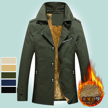 Mens Winter Jackets and Coats Warm Military Outerwear Slim Size M-5XL Men Clothes Long Coat