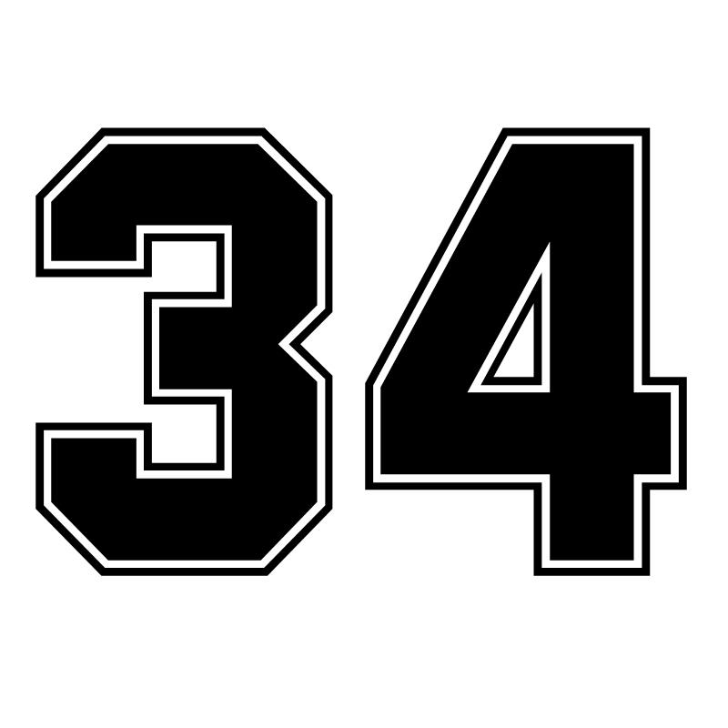 CK3066# наклейки на авто цифра 34 водонепроницаемые наклейки на машину наклейка для авто автонаклейка стикер этикеты винила наклейки стайлинга...
