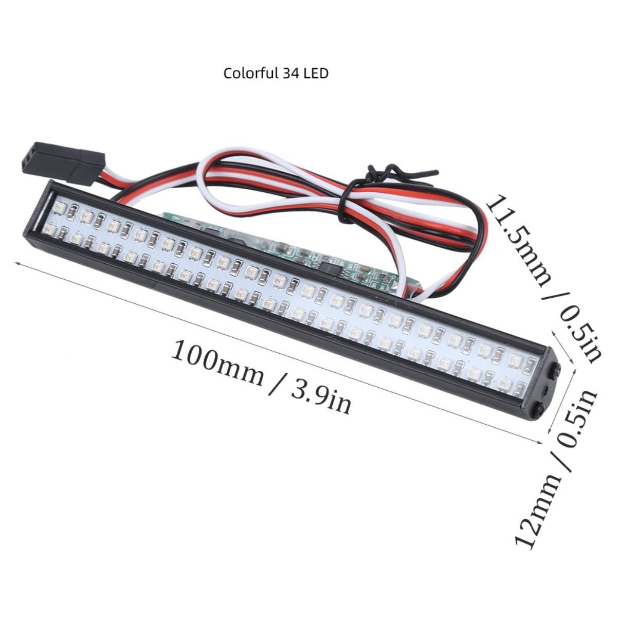 55mm RC LED Lichtleiste LEDs Lampe 1:10 RC Autoteil für 90046 90048 SCX10 WN5HCY