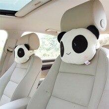 Seat-Cover Car-Accessories Neck Cushion Car-Neck-Pillow Panda-Headrest Cartoon Cute 1pc/2pcs