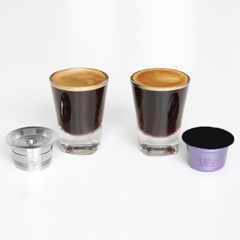 Reusable Coffee Capsule Tamper Spoon Pod Cup For Verismo K-Fee Set Refillable image