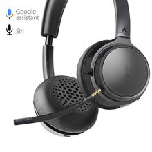 Avantree audição bluetooth 5.0 40 hr sem fio/com fio sobre a orelha fones de ouvido com microfone para computador tv assistindo
