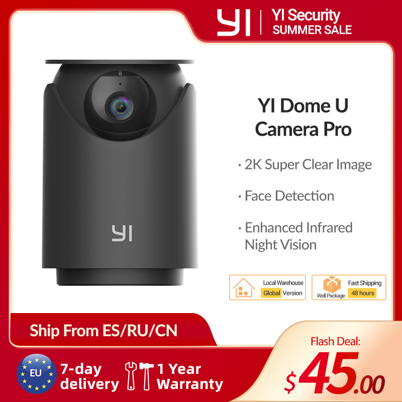 YI купол U Камера Pro 2K 3MP AI-приведенный в действие IP Cam Распознавание лиц конфиденциальности-очиститель с индивидуальным режимом на Seccuity двухк...
