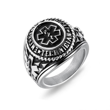 Europe and the United States titanium steel ring tide male punk domineering ring medical logo titanium steel ring jewelry VR590 цена 2017