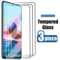 Protector de pantalla de vidrio templado para Redmi Note 10, 9 Pro, Max, 10S, 9S, 8T, 8, 7, 6, 5 Pro, 5A, Prime, 4X, 4 Pro, 3 uds.