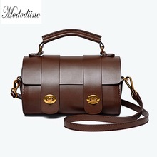 Mododiino Vintage Boston Bag Brand Women Handbag Elegant Shoulder High Quality PU Leather Crossbody Pillow DNV1195