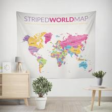 World map tapestry color printing home fabric decoration tapestry can be customized