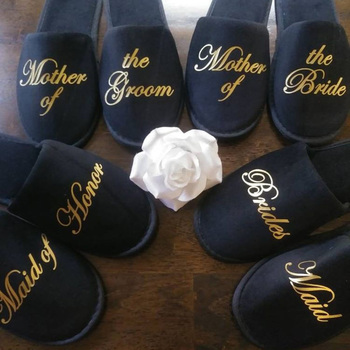 customize name slippers Birthday Anniversary Engagement wedding proposal party bride Bridesmaid gifts hen party spa slippers