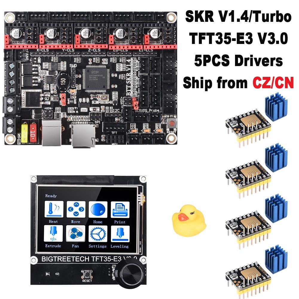 BIGTREETECH SKR V1.4 Turbo 32-битная панель управления + TFT35-E3 V3.0 сенсорный ЖК-экран + TMC2208 TMC2209 MKS GEN L CR10 Ender 3 Pro Обновление
