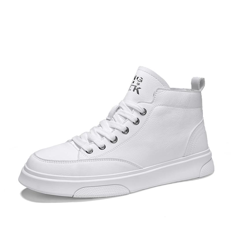 Spring Mens Sneakers Casual Men Skateboarding Shoes Men Breathable Non-slip High Top Shoes Men Jogging Walking Men Flat Shoes