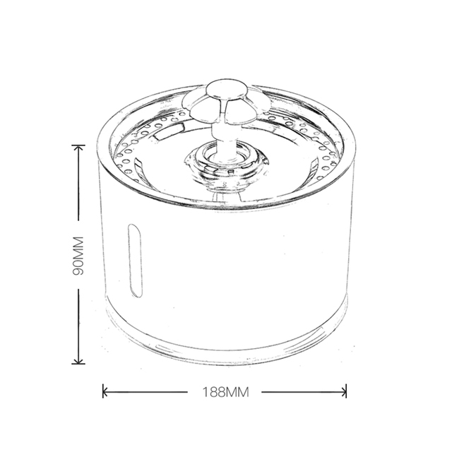 Pet Dog Cat Water Fountain Electric Automatic Water Feeder Dispenser Container LED Water Level Display For Dogs Cats Drink 6