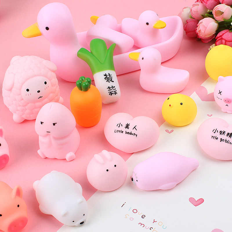 1pcs Decompression CuteToy Birthday Party Favor Animal Antistress Ball Squeeze Soft Stress Relief Toy Kids Gift Decor