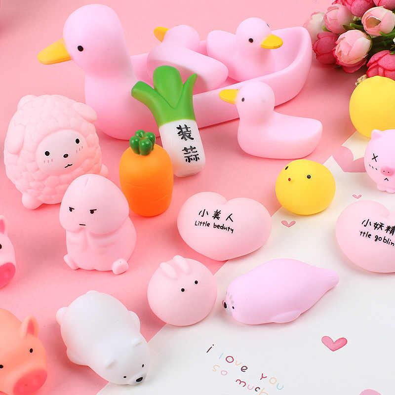 1pcs di Decompressione CuteToy Di Compleanno Figurine Miniature Animali Antistress Palla Spremere Morbido Alleviare Lo Stress di Giocattoli Per Bambini del Regalo Della Decorazione