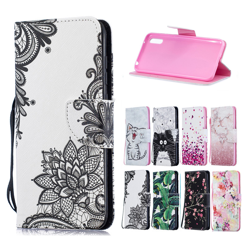 For Samsung Galaxy A80 Leather Case or Fundas Samsung A80 A 80 A805F A90 Cover Fashion Wallet Flip Stand Phone Cases Coque