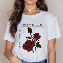 New Shawn Mendes 90s Ullzang T Shirts Women Harajuku Fashion T-shirt Graphic Funny Cartoon Print