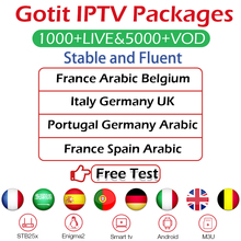 GOTiT подписка IP tv французский арабский Испания Португалия Бельгия Германия Италия Великобритания IPTV m3u IP ТВ пакеты Android Smart tv Enigma2