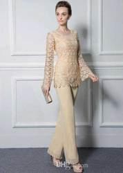 2020 шифон мать Длинные платья для невесты рукав вечернее платье для гостей на свадьбе платья Кружева Аппликации Мать платье