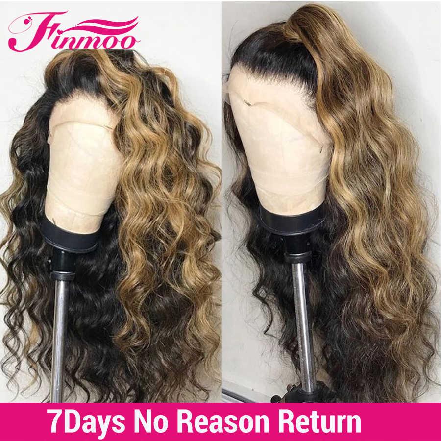 Wasser Welle 613 Blonde Spitze Front Perücke 180 Dichte Ombre Spitze Front Menschliches Haar Perücken Brasilianische Remy 360 Spitze Frontal perücke Für Frauen