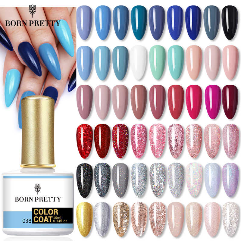 Lahir Cantik 120 Warna Gel Cat Kuku Gel Varnish Biru Hijau Semi Permanen Gel Cat Kuku untuk Kuku Seni Dasar mantel Top Coat 10Ml