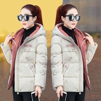 2020 nouvelle veste d'hiver femmes Parkas à capuche épais vers le bas coton rembourré Parka femme veste courte manteau mince vêtements d'extérieur chauds P772 1