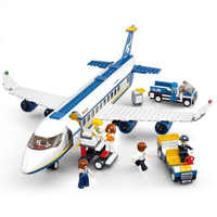 463pcs Legoinglys City Plane Series International Airport Airbus Aircraft Airplane Building Blocks Sets Figures Bricks Toys Kids