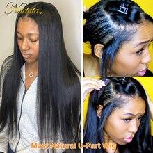 Nadula U-образный парик, натуральные прямые человеческие волосы, парики, бразильские прямые волосы, парики для черных женщин, 100% человеческие в...