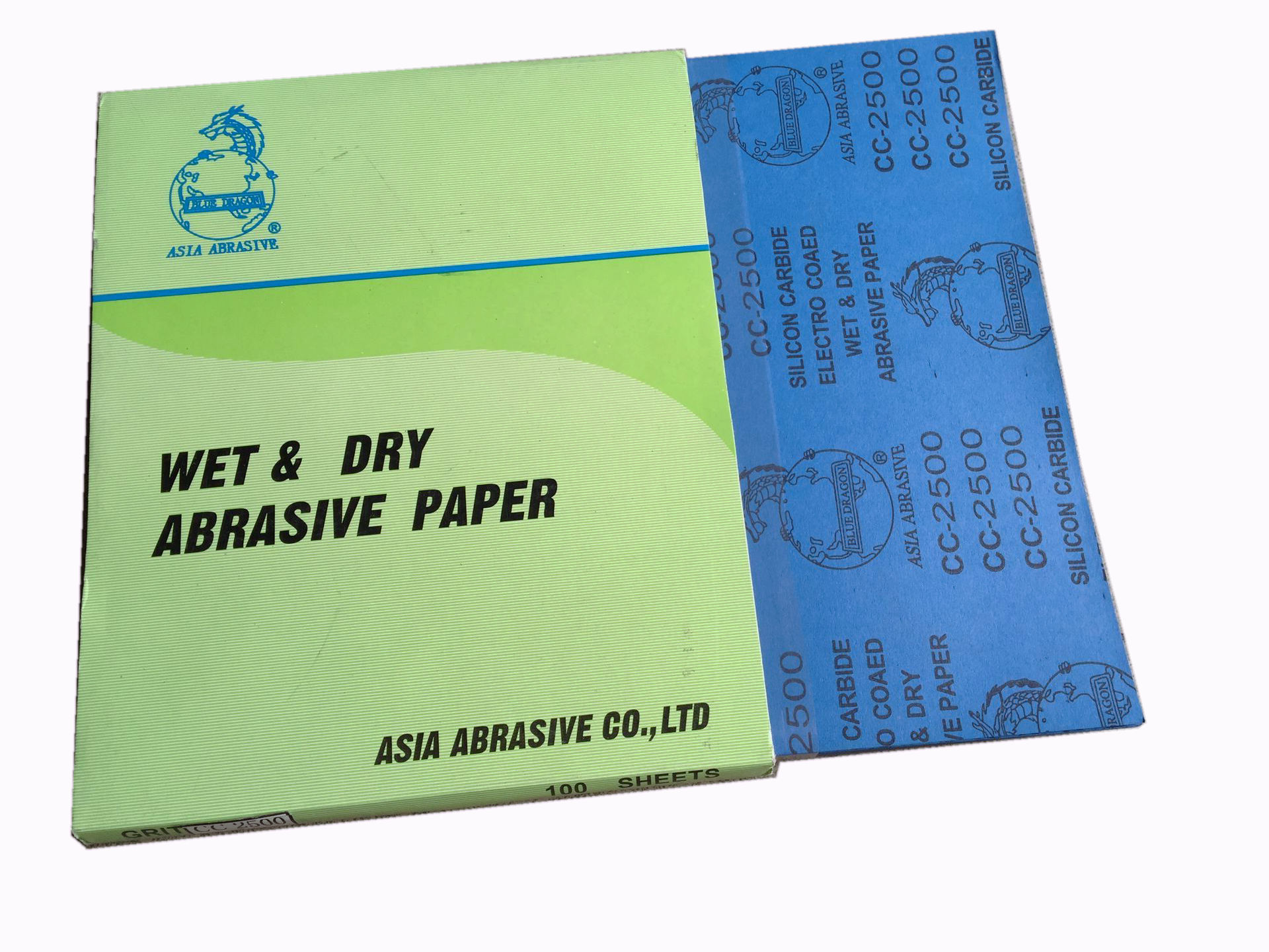 Qinglong Brand Waterproof Abrasive Paper Dragons Sandpaper Waterproof Abrasive Paper Carborundum Waterproof Abrasive Paper 2500