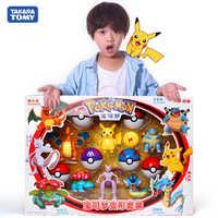 Figuras de Pokémon originales, modelo de bola de elfo, Pikachu, Lunala, Charizard, modelo de figura de acción, juego de juguetes de elfo-Bola, regalo de Halloween para niños