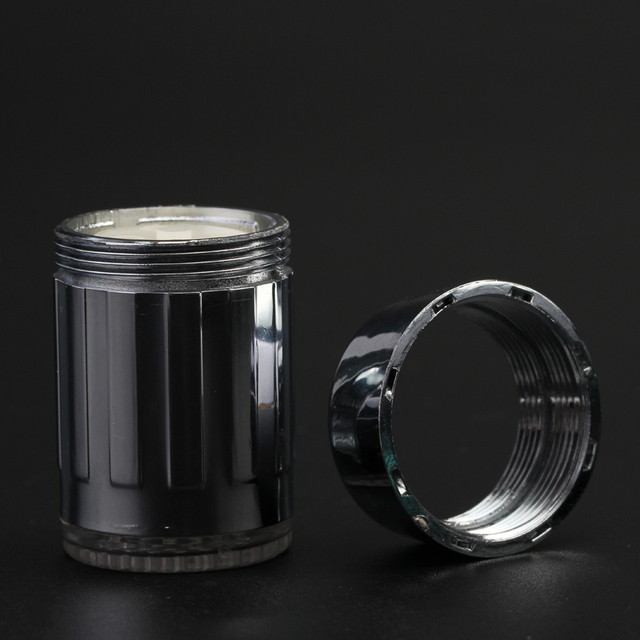 Zhang Ji LED Temperature Sensitive 3-Color Light-up Faucet Kitchen Bathroom Glow Water Saving Faucet Aerator Tap Nozzle Shower 2