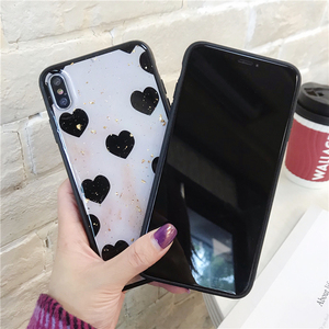 Image 2 - Cute Love Heart Print Back Cover For iPhone X XR XS MAX 8 7 6 6S Plus Phone Case Hard PC Cases Coque For iPhone 7 8 Plus